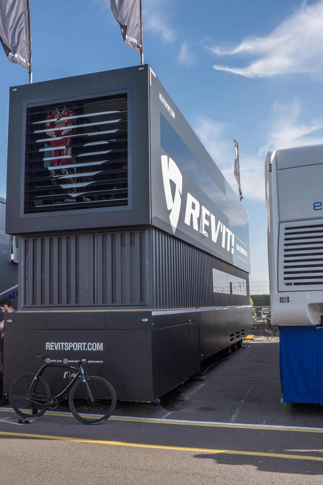 The REV'IT! Technology Center. Support facility during MotoGP