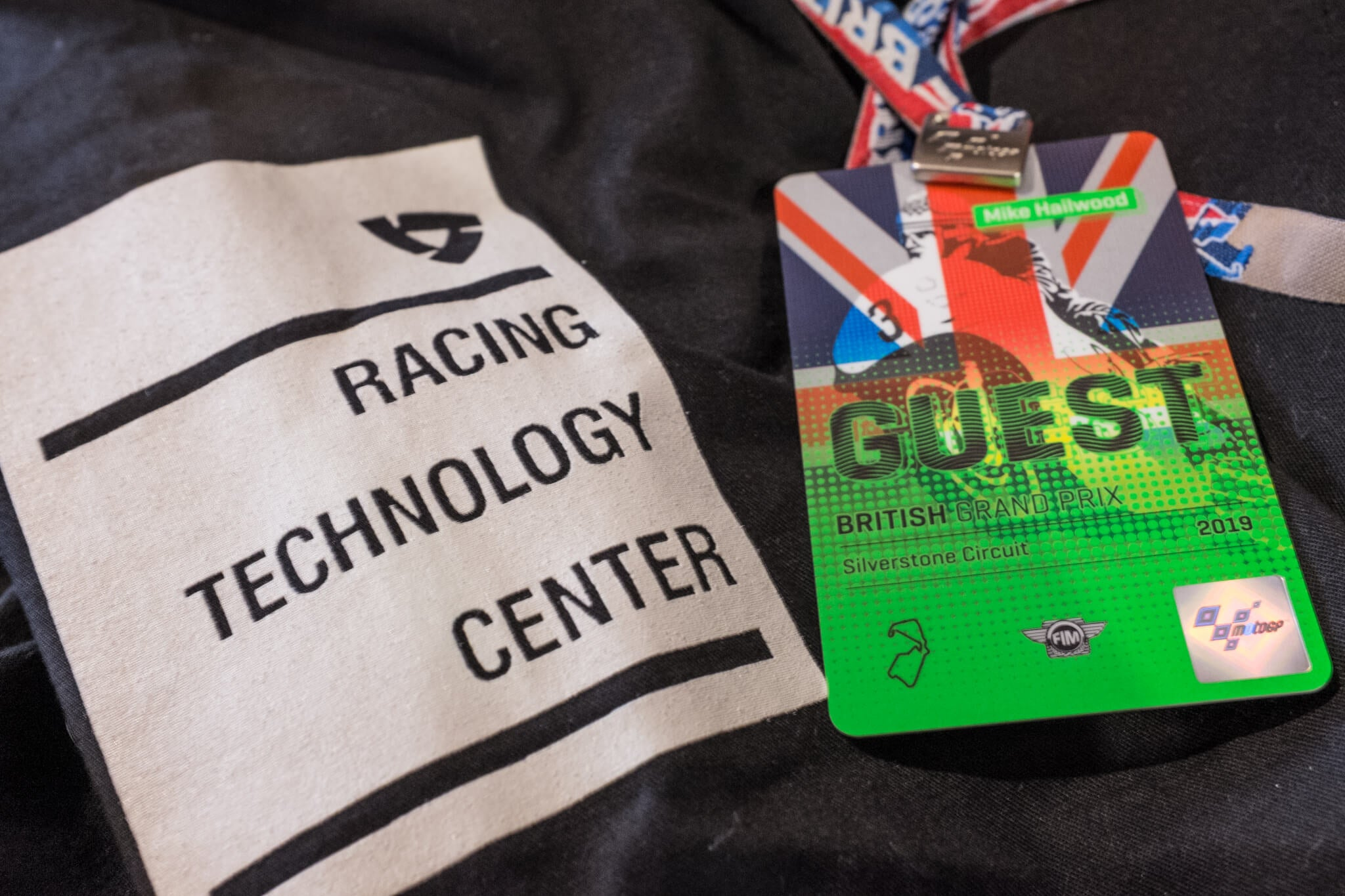 My pass for the whole weekend Paddock MotoGP Silverstone 2019