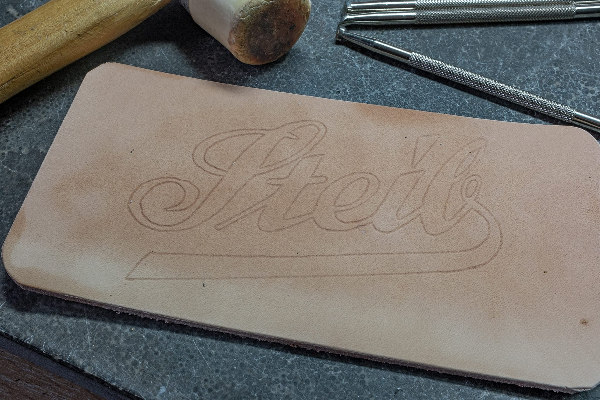 tracing the steib logo | Duke & Sons Leather