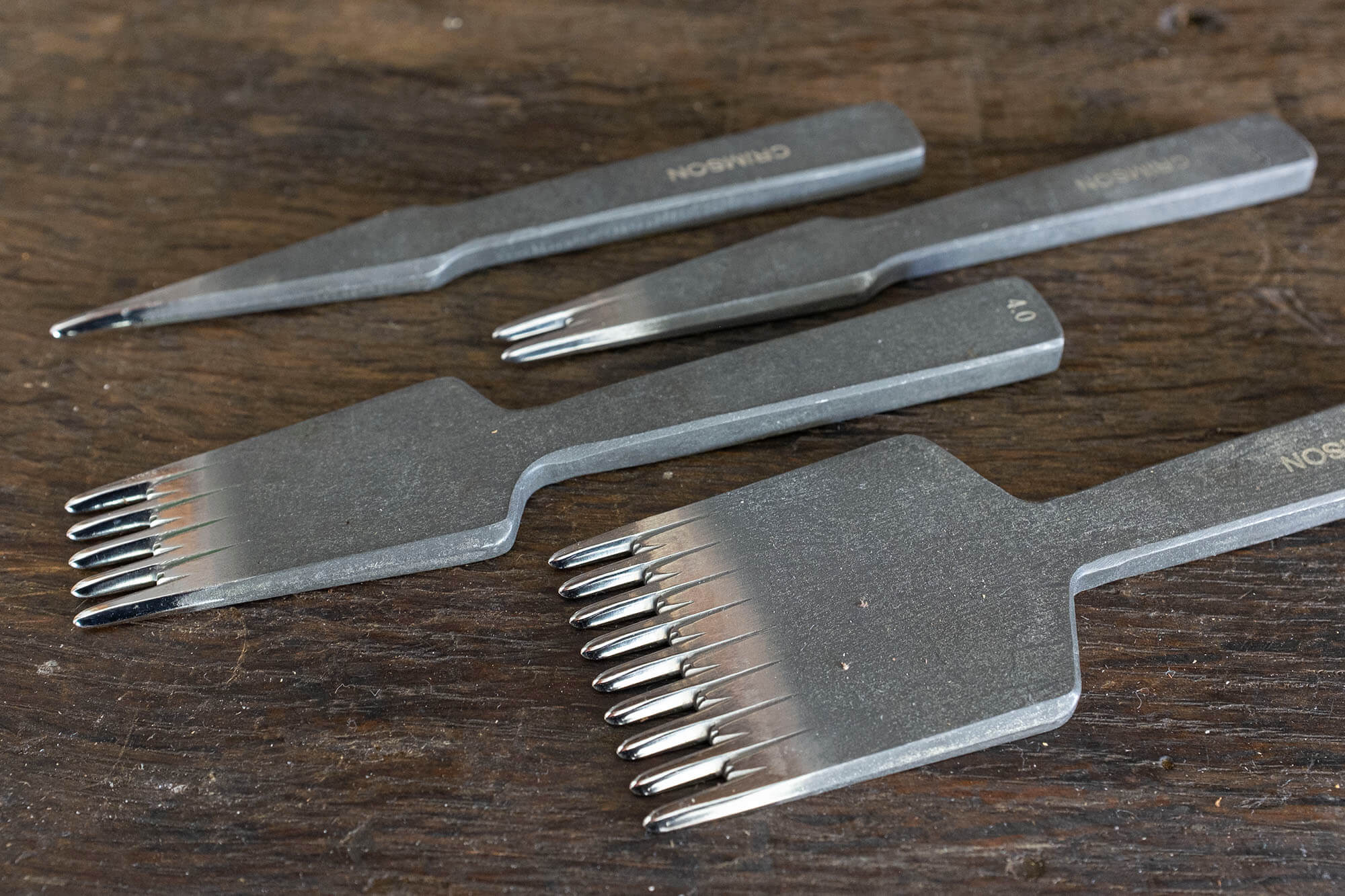 Stitching irons, The Crimsonhides Irons | Duke & Sons Leather