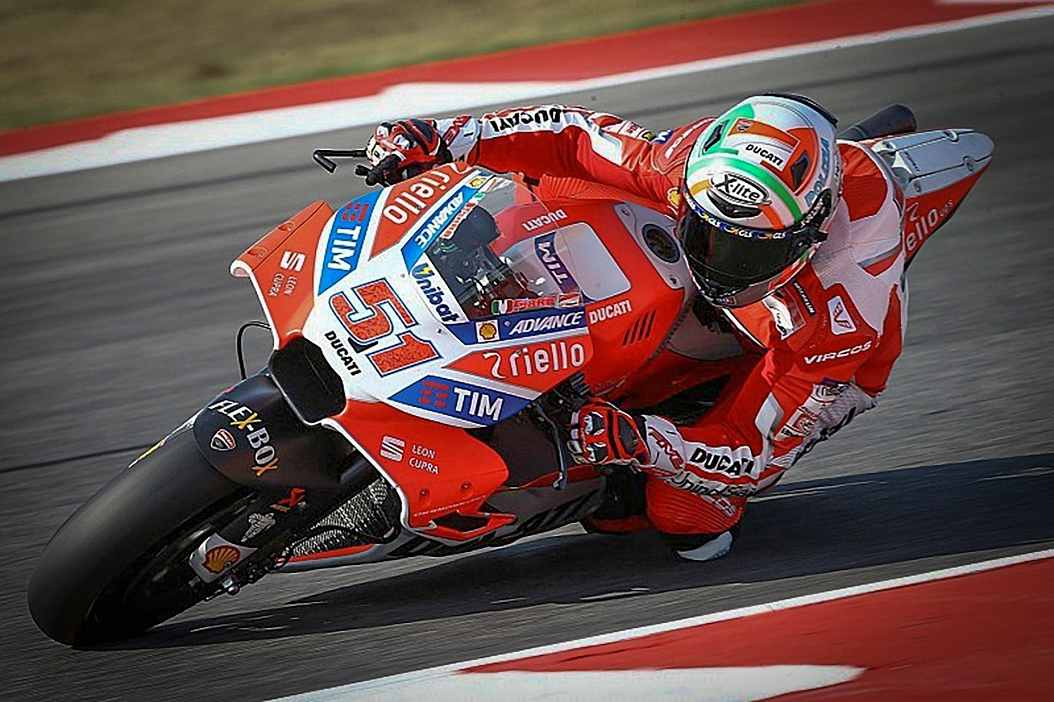 Michele Pirro on Ducati at the MotoGP