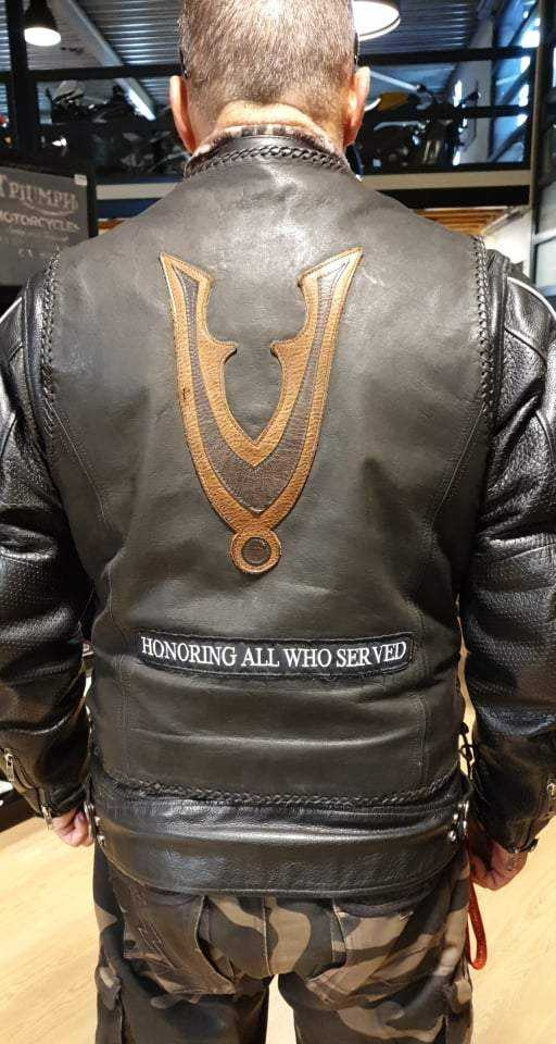 Dutch Veteran leather backpatch
