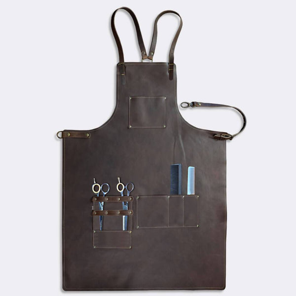 Barber apron (A-grade leather) for the professional barber and hairdresser - Duke & Sons Leather