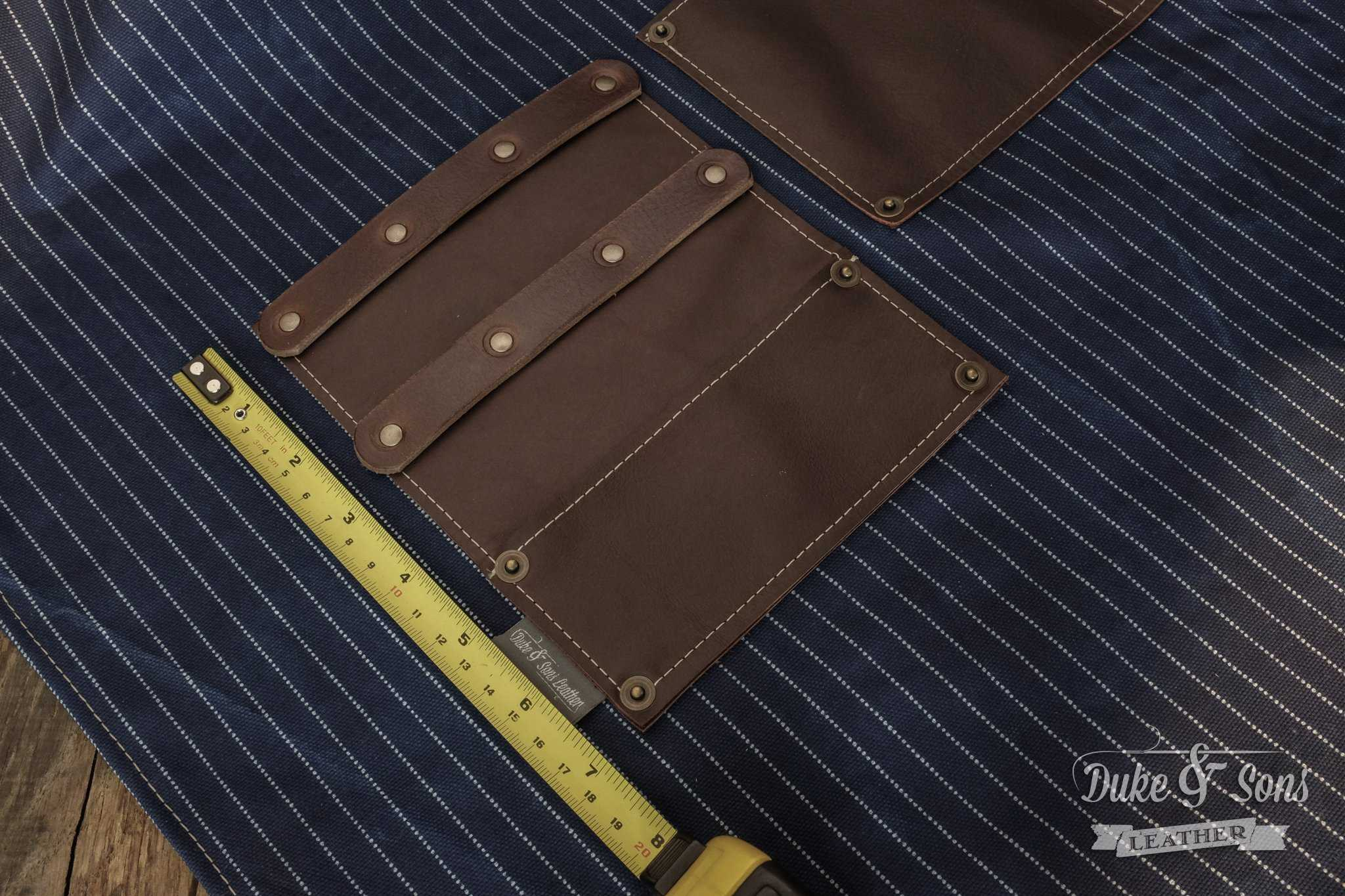 Barber apron,ready for 7 inch tools | Duke & Sons Leather