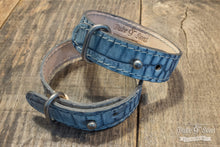 Bracelet, Blue Croco, 2 leathers, multiple size - Duke & Sons Leather
