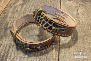 Bracelet, Lizard, 2 leathers, multiple size - Duke & Sons Leather