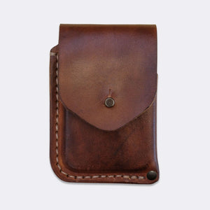 Card wallet, vegetan hand dyed leather | 10 cards - Duke & Sons Leather