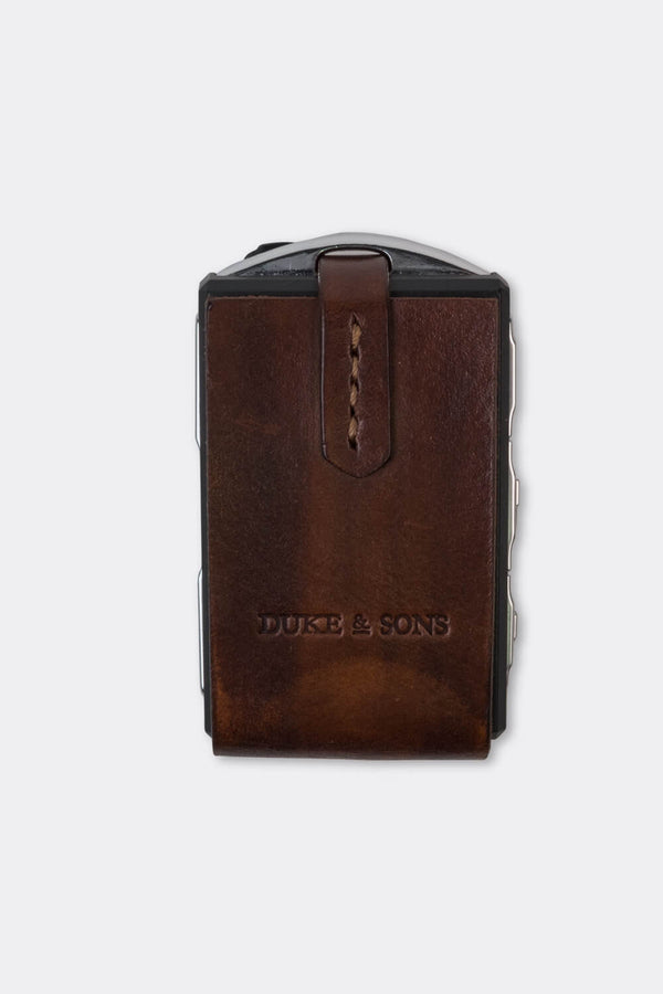 Leather Polestar key sleeve brown | Duke & Sons Leather