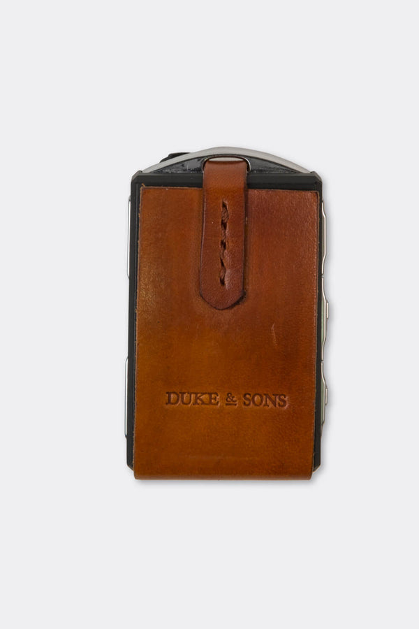 Leather Polestar key sleeve cognac | Duke & Sons Leather