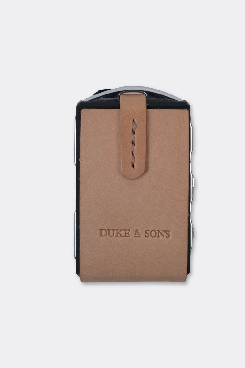 Leather Polestar key sleeve natural | Duke & Sons Leather