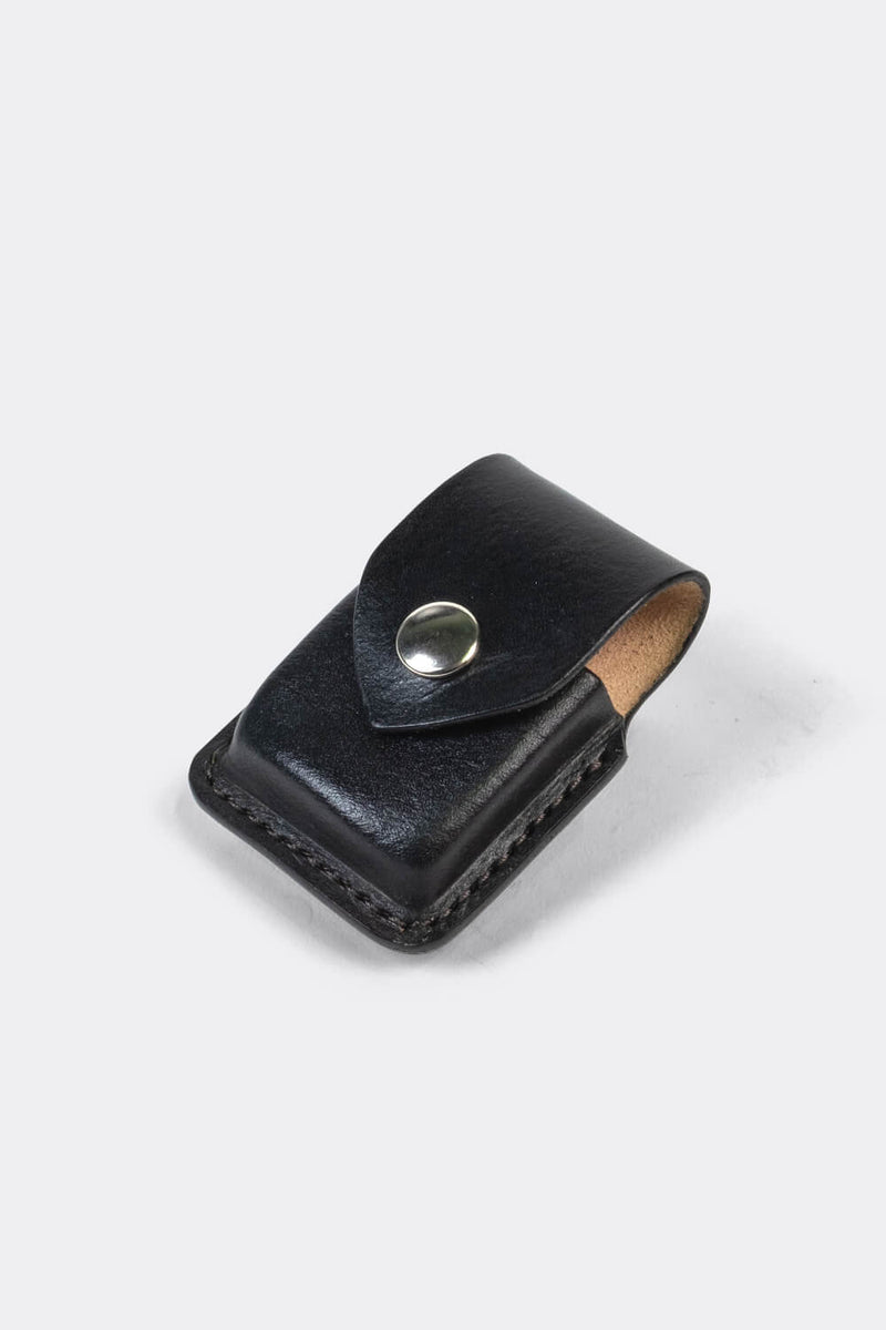 Zippo leather pouch Black / case to wear on your belt - Duke & Sons Leather