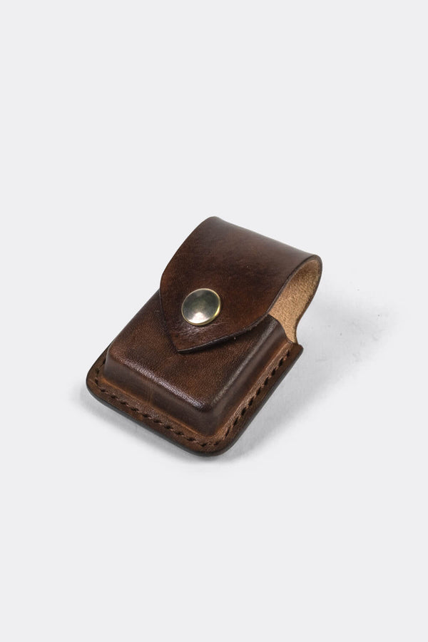 Zippo leather pouch Brown / case to wear on your belt - Duke & Sons Leather