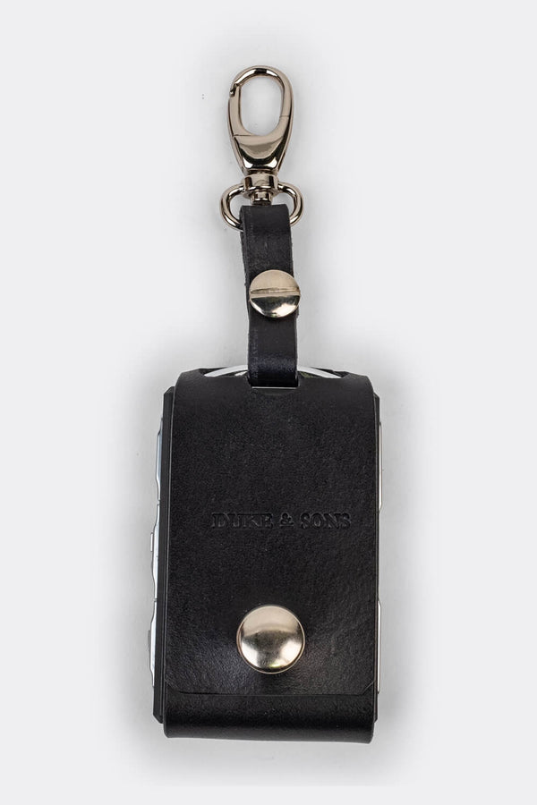 Leather Polestar key sleeve (clasp) black | Duke & Sons Leather