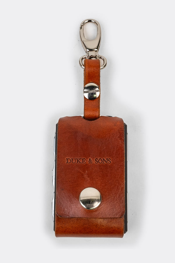 Leather Polestar key sleeve (clasp) cognac | Duke & Sons Leather