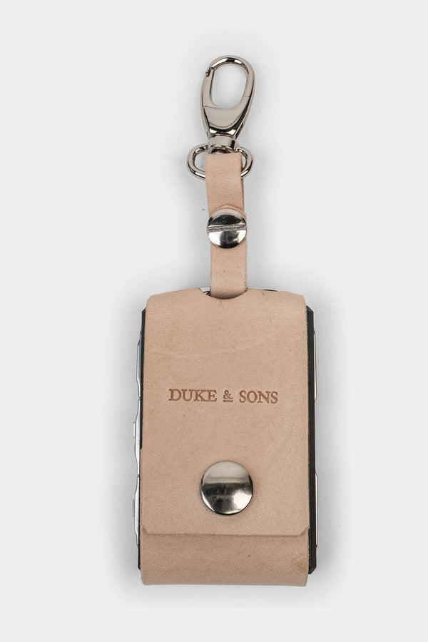 Leather Polestar key sleeve (clasp) naturel | Duke & Sons Leather