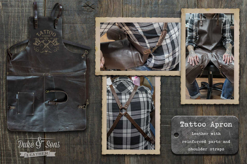 Tattoo apron, maximum movement, maximum comfort! - Duke & Sons Leather