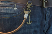 Keychain (Natural) 50 cm, with old bronze anchor* - Duke & Sons Leather