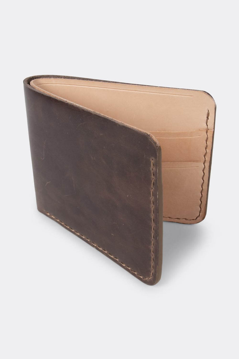 Wallet, bifold , Dark brown (Horween leather) - Duke & Sons Leather