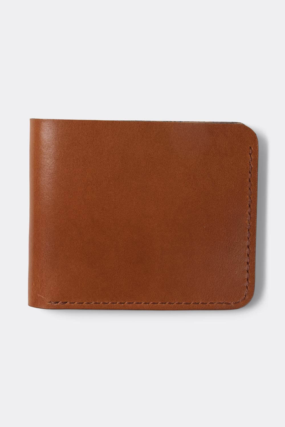 Wallet, bifold , vegetan Cognac leather - Duke & Sons Leather