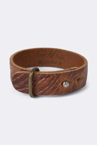 Bracelet, Brown Croco leather, multiple size - Duke & Sons Leather