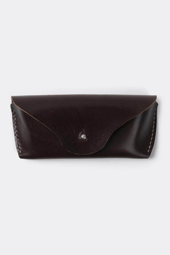 Glasses | sunglasses case, brown color, vegetable tanned leather. - Duke & Sons Leather