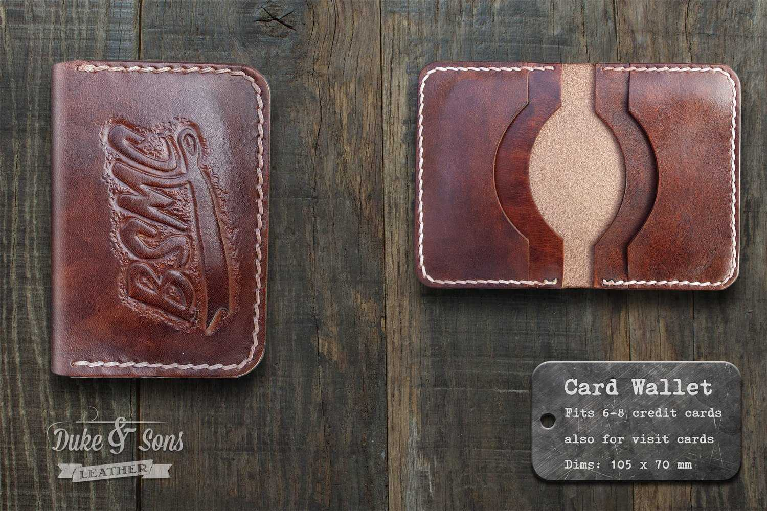 Card wallet, (handmade) with custom image.