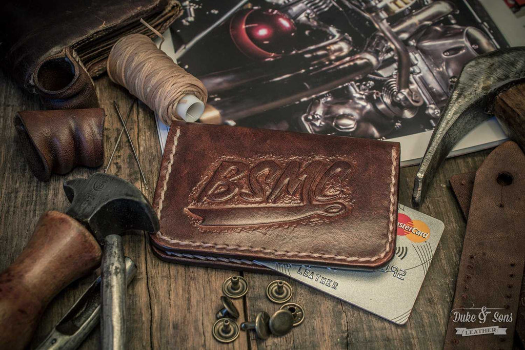 Card wallet, (handmade) with custom image. | Duke & Sons Leather
