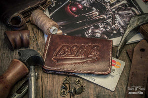Card wallet, (handmade) with custom image. - Duke & Sons Leather
