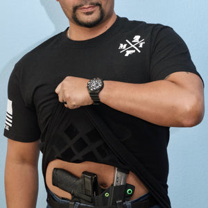 Mens round neck concealed carry t-shirt - Moya Tactical Concealed Carry T Shirts