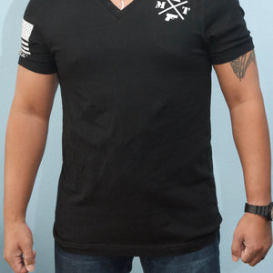 Men's V-neck concealed carry shirt - Moya Tactical Concealed Carry T Shirts
