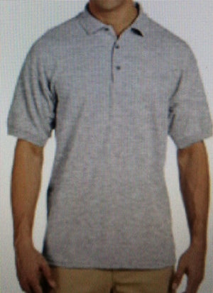 Polo Shirt Light Grey with antiprint technology.