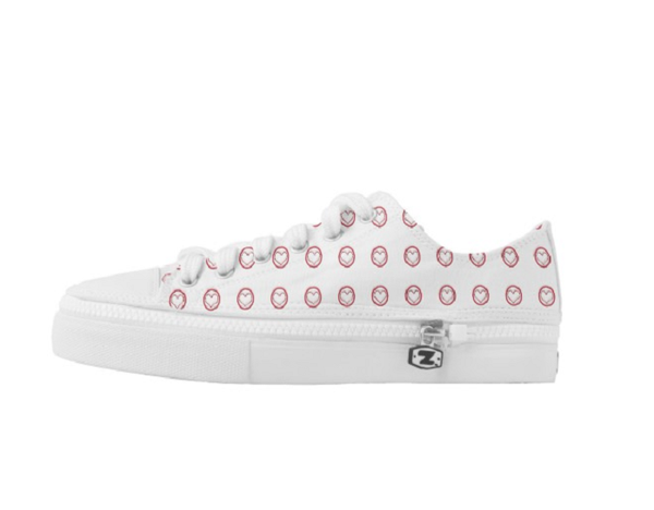 Kim Seaborn Heart Low Top Shoes