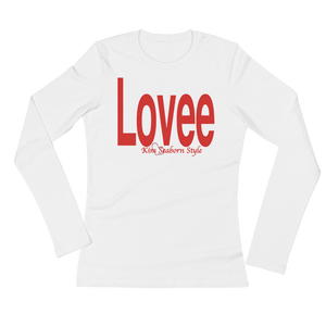 Women's Long Sleeve Lovee White T-Shirt