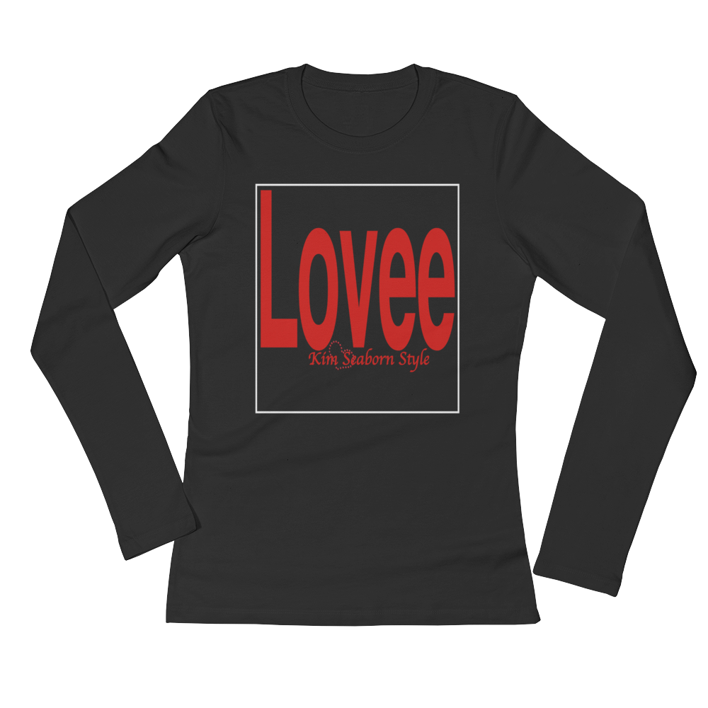 Women's Long Sleeve Lovee Black T-Shirt