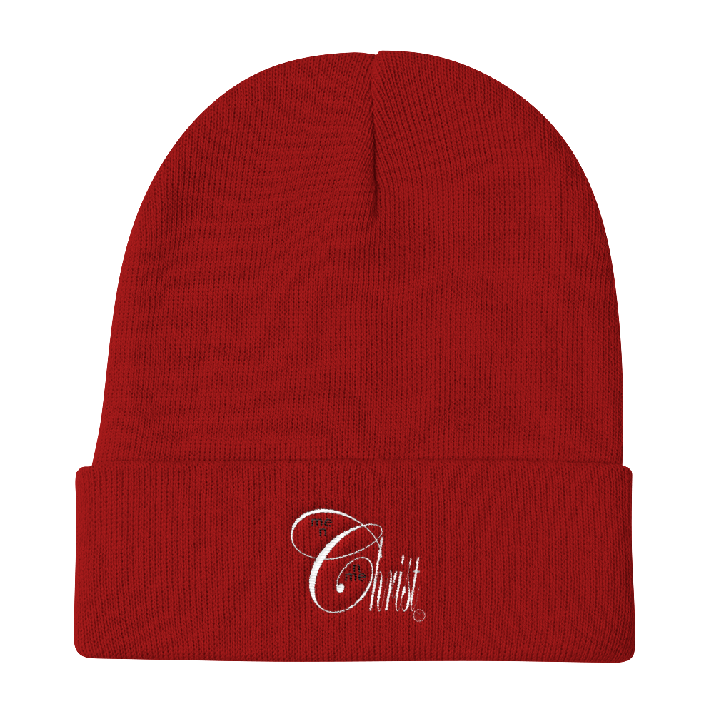 Christ N Me, Me N Christ Red Knit Beanie
