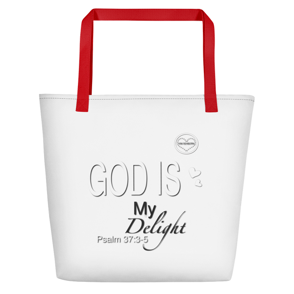 God Is My Delight Beach Bag