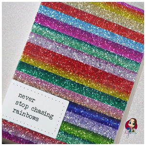 Handmade rainbow notebook