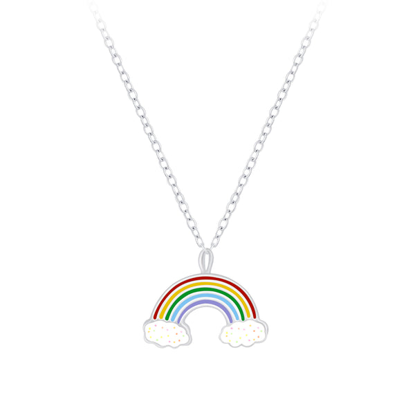 Rainbow Sterling Silver Necklace