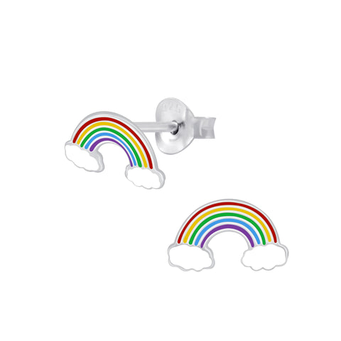 Rainbow Sterling Silver Earrings