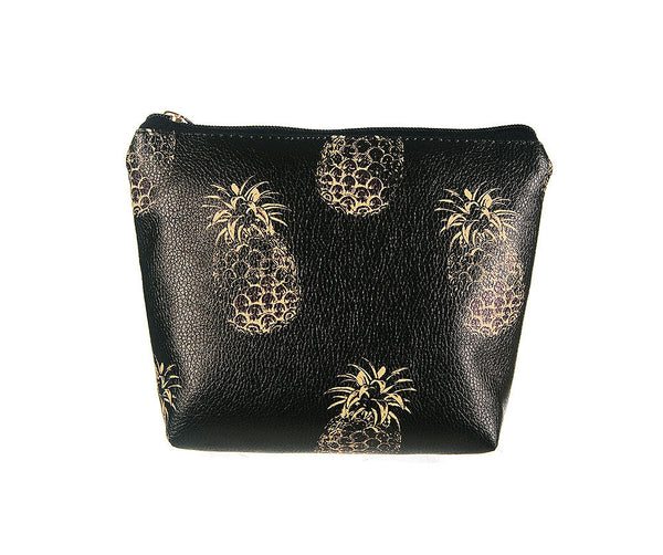 Gorgeous golden pineapple make up back perfect for any occasion in a roomy versatile size.