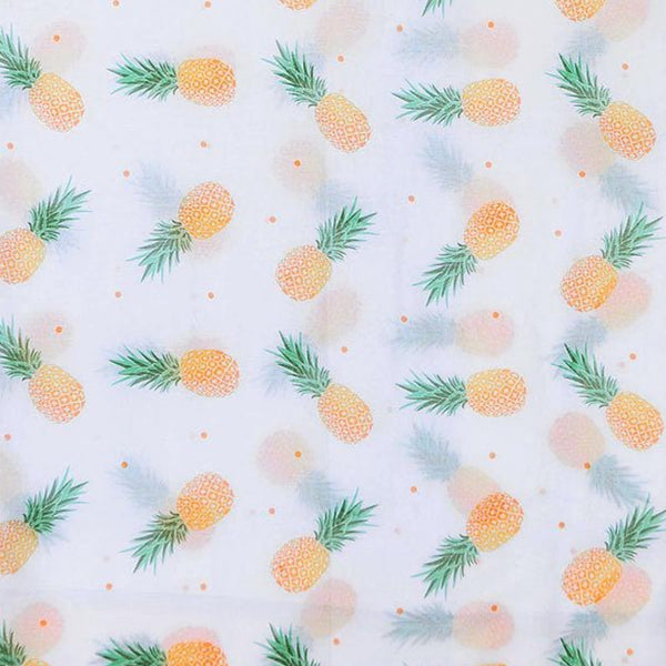 Pineapple printed scarf fabric design