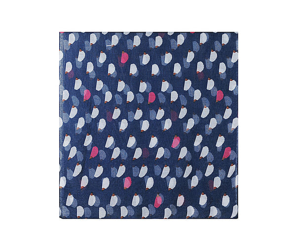 Navy hedgehog print