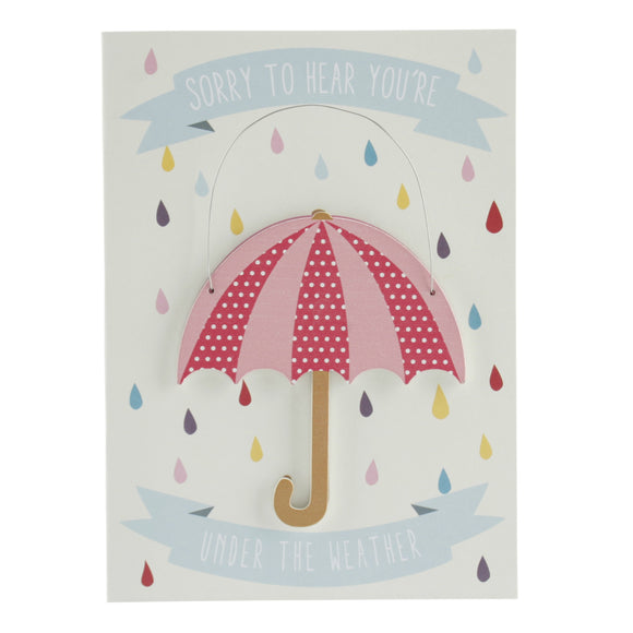 Under the Weather Card and Hanging Keepsake Umbrella