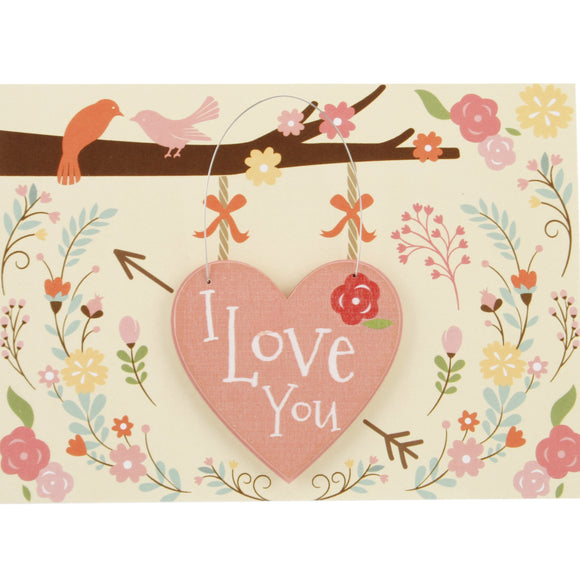 I Love You Card and Hanging Keepsake Heart