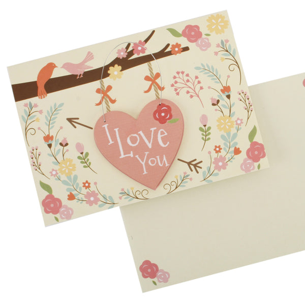 I love you card and envelope
