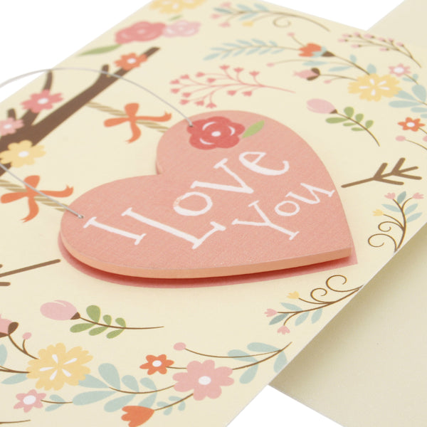 I love you greeting card close up