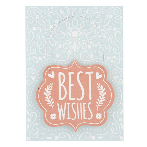 Best Wishes Card and Hanging Keepsake