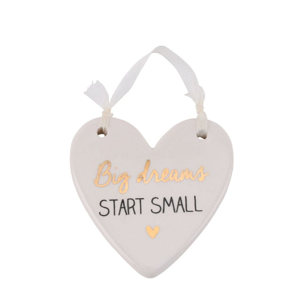 Pretty little ceramic hearts with choice of phrases