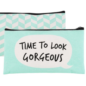 Large make up bags with speech bubble design and choice of colours and slogans