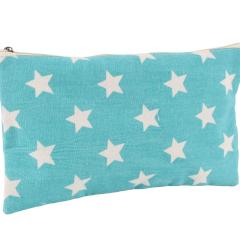 Large Canvas Make Up Bag with Star Print